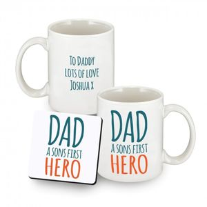 Personalised First Hero Fathers Day Mugs
