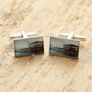 Brighton Cufflinks West Pier - cufflinks