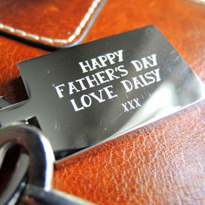 Personalised Stainless Steel Fathers Day Keyring