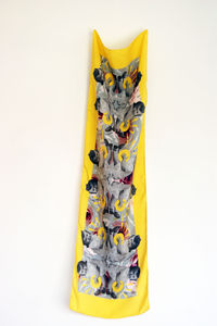 'Bloom' Small Designer Silk Scarf - scarves