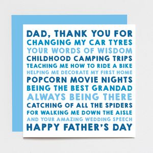 Personalised 'Thank You' Father's Day Card