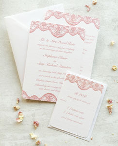 Lace Wedding Collection - invitations