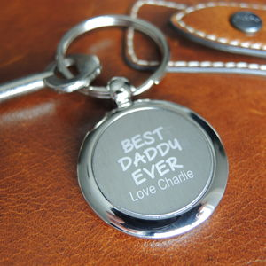 Personalised Football Keyring For Dad