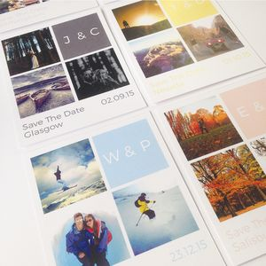 Personalised Block Photo 'Save The Date' Cards - save the date cards