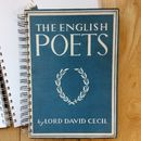 'English Poets' Upcycled Notebook