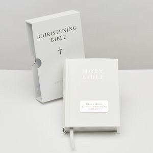 Personalised Christening Bible - what's new