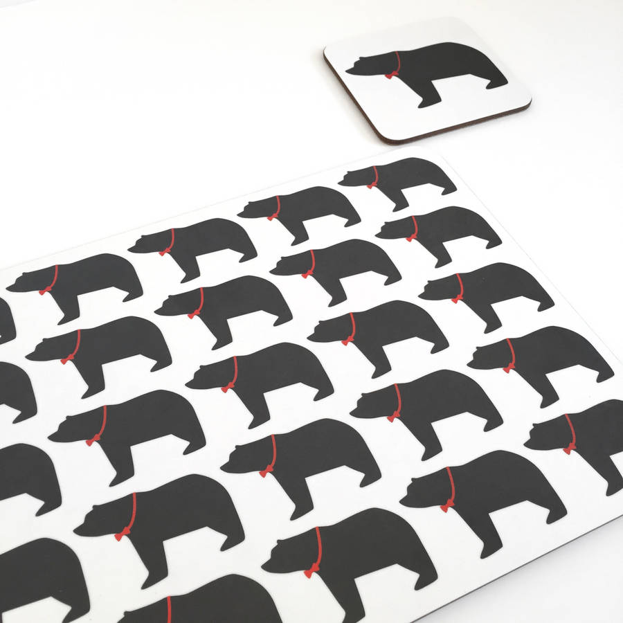 Daddy Bear Coasters And Placemats