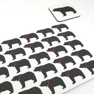 Daddy Bear Coasters And Placemats - winter sale