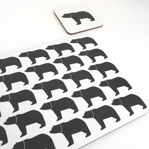 Mummy Bear Bear Coaster And Placemats - christmas home accessories