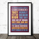 West Ham Football Song Chant Poster