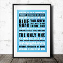 Manchester City Football Song Chant Poster