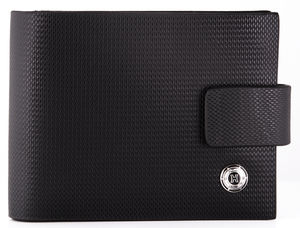 Leather Wallet With Diamond Design - wallets & money clips