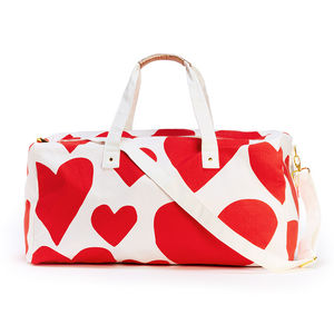 Multi Heart Weekend Bag - holdalls & weekend bags