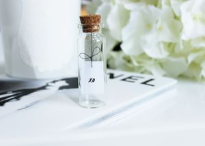 Handwritten Tiny Message In A Bottle - wedding cards