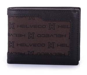 Helveco Jacquard And Leather Wallet