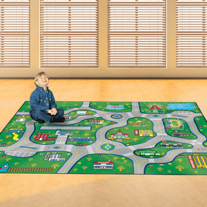 Child's Village Roads Floor Rug