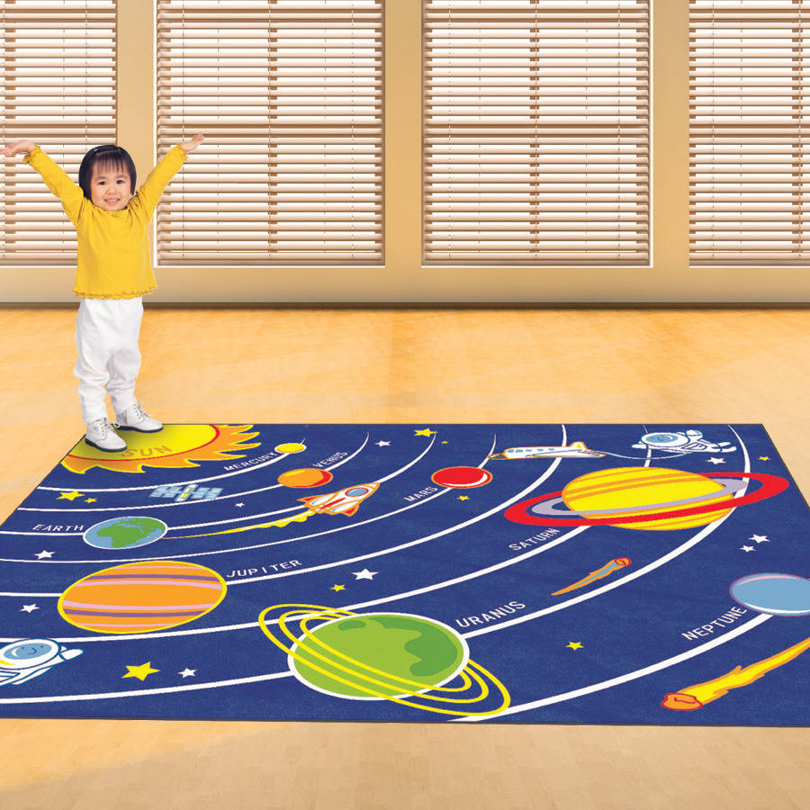 Childs Solar System Floor Rug