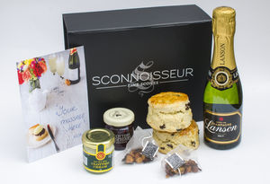 Champagne Cream Tea Giftbox - food gifts