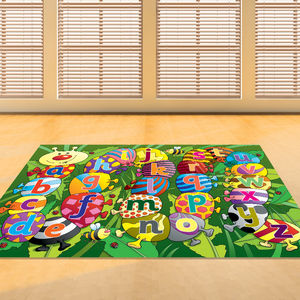 Child's Caterpillar Alphabet Floor Rug - bedroom
