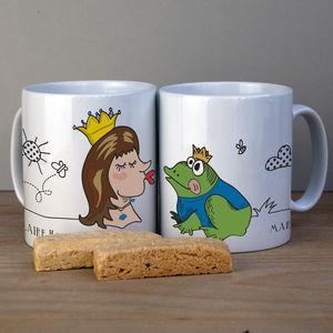 Fairytale Couple Personalised Engagement Mug