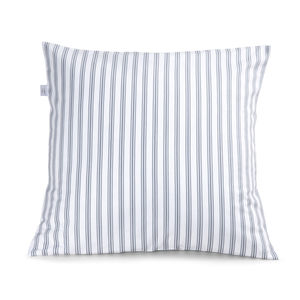Ticking Stripe Blue Grey Cushion - cushions