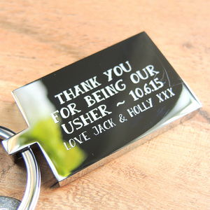 Personalised Wedding Thank You Keyring - wedding thank you gifts
