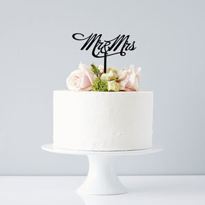 Elegant Mr And Mrs Wedding Cake Topper - cake decoration
