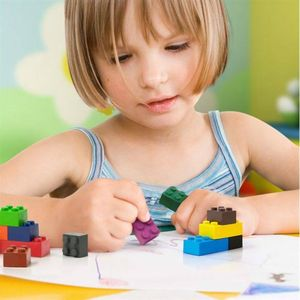 Pack Of Building Brick Crayons - stationery