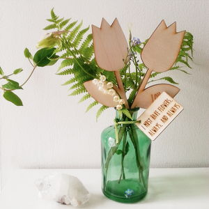 In Your Own Words Wooden Personalised Flowers - artificial flowers