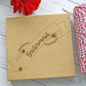 Bridesmaid Engraved Kraft Gift Box