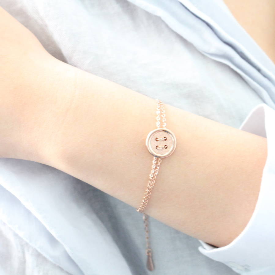 Rose Gold Button Bracelet