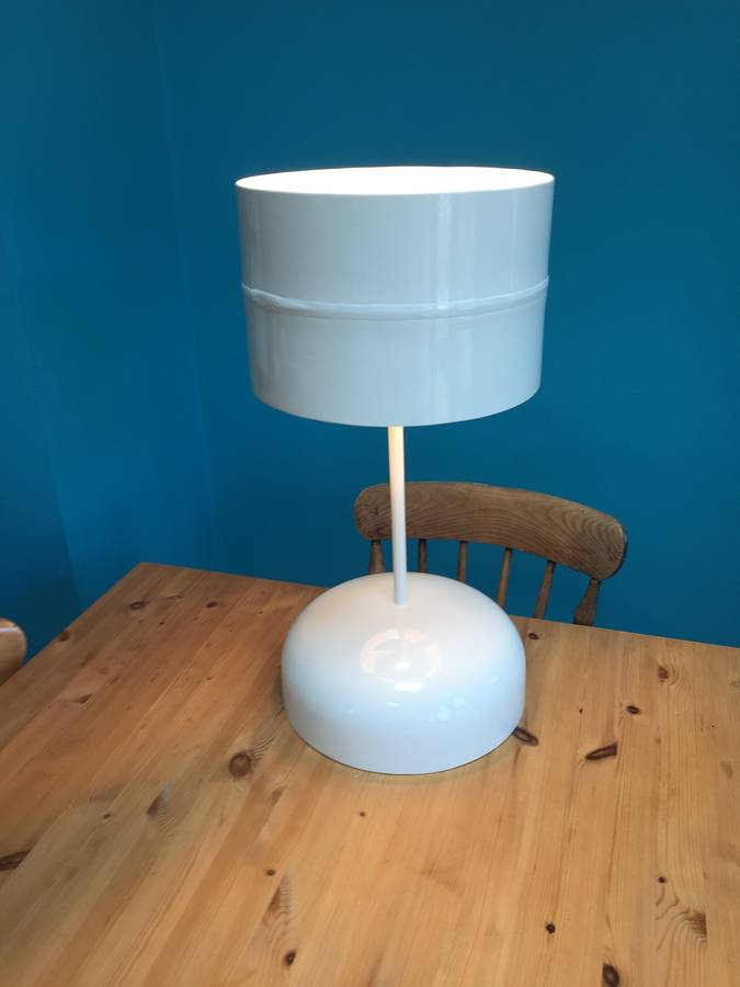 table recycled materials. Hand Crafted Table Lamp Made From Recycled Materials A