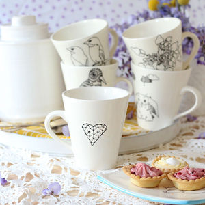 Large Illustrated Mugs - new home gifts