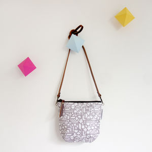 Shapes Day Bag In Grey - cross-body bags