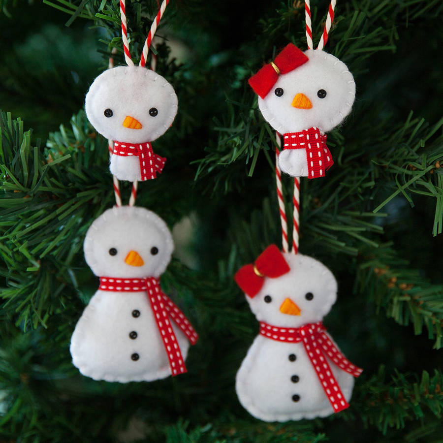 snowman family christmas tree decorations