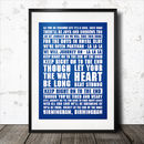 Birmingham City Football Song Poster
