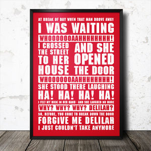 Stoke City Football Song Chant Poster