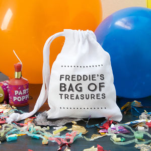Personalised Typographic Mini Gift Bag - gift bags & boxes