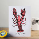 'Let's Stay Together' Lobster Card