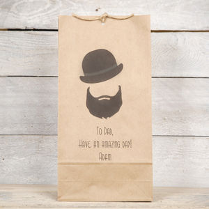 Beard And Bowler Mens Gift Bag - wrapping