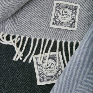Luxury Fine Merino Throw Grey Collection - blankets & throws