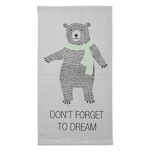 Children's Rectangle Bear Quote Rug - rugs & mats