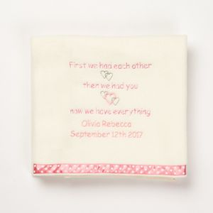 'Then We Had You' Baby Blanket In Pink - baby care