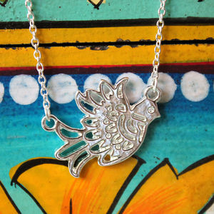 Folk Birdy Necklace