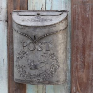 Zinc Post Box - room decorations