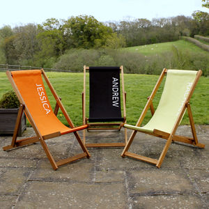 Personalised Plain Deckchair - garden furniture