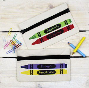 Personalised Crayons Pencil Case