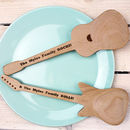 Personalised Electric And Acoustic Guitar Spoon Set