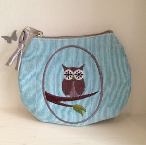 Girls' Ethical Aqua Owl Coin Purse - women's sale