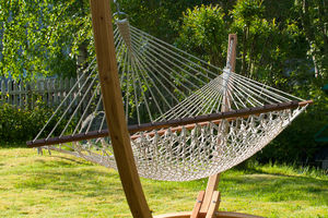 Corda Double Rope Hammock With Spreader Bars - garden furniture